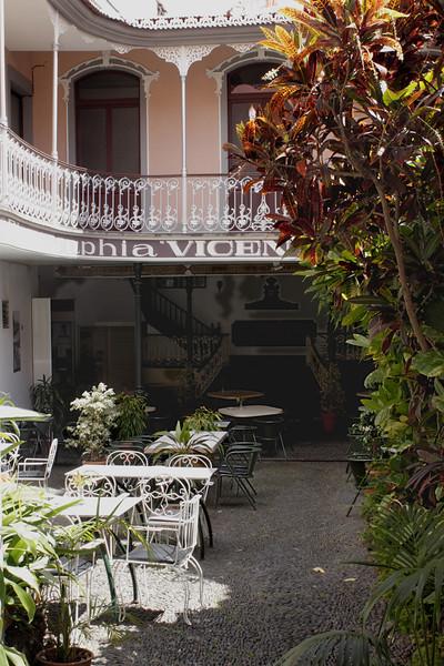 Cafe in the Rua da Carreira Funchal Madeira