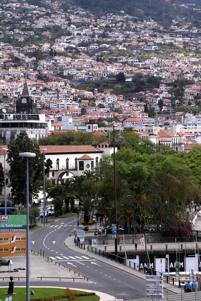 Funchal Madeira view from Parque de Santa Catarina
