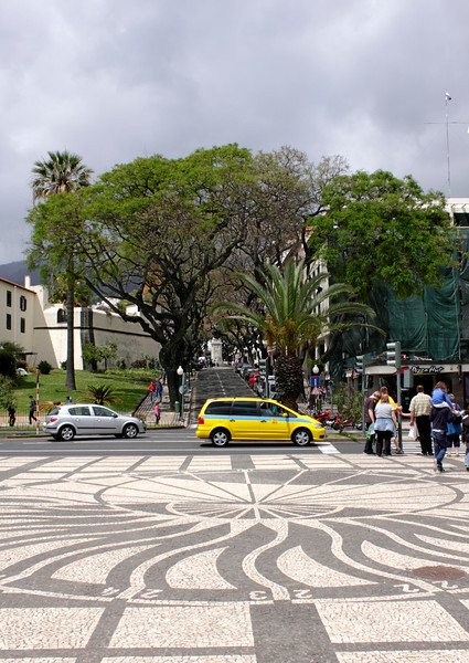 Decorative paving by the Avenida do Mar Funchal