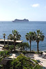 MSC Ocean liner sailing into Funchal harbour