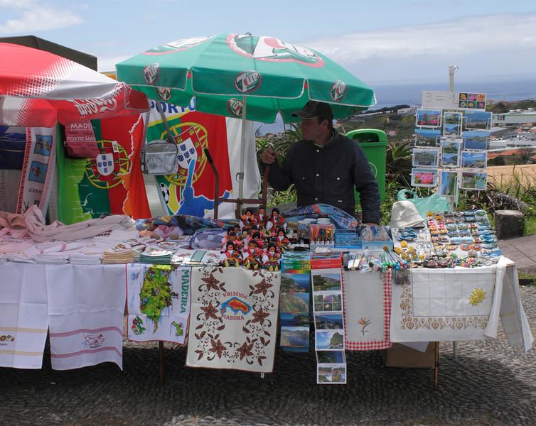 Souvenir stall on the Pico dos Barcelos Funchal Madeira