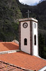 Church rooftop and belltower Nuns Valley Madeira