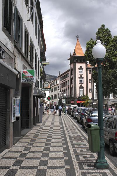 Decorative paving Rua do Aljube Funchal Madeira