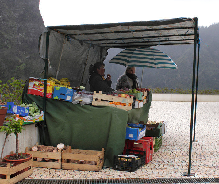 Fruit stall at Nuns Valley Madeira