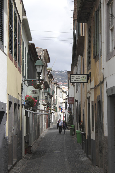 Rua de Santa Maria cobbled lane in Old Town Funchal