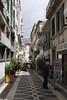 Rua dos Murcas cobbled lane in Funchal Madeira