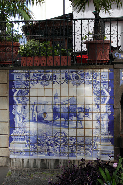 Azulejos tiled wall mural Funchal Madeira