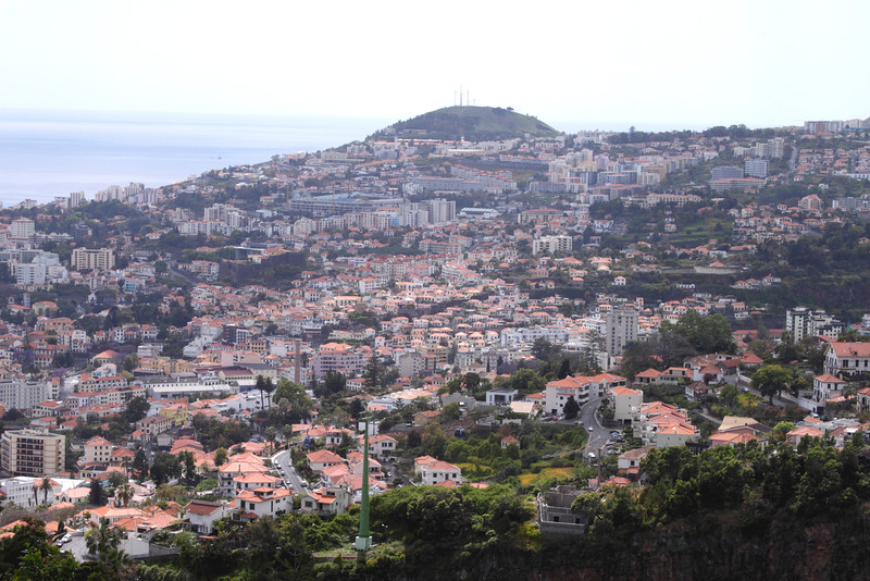 Funchal skyline view from the Botanical Gardens