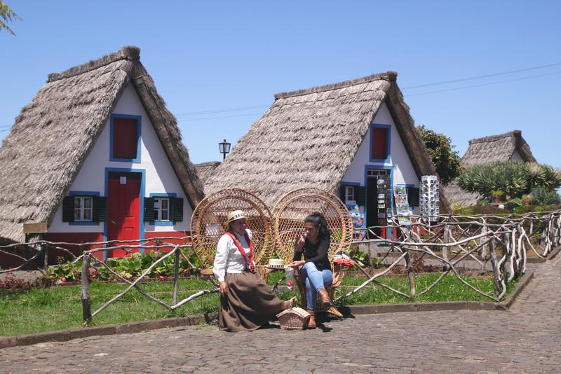 Traditional Palheiro thatched cottages Santana Madeira