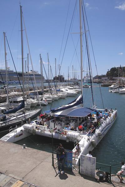 Catamaran at Funchal Marina Madeira