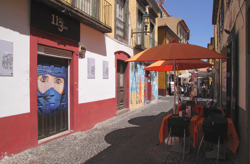 Travessa Joao Caetano in Old Town of Funchal Madeira