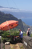 Fruit stall at Cabanas viewpoint on north coast Madeira