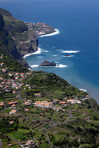 Arco de Sao Jorge on north coast Madeira view from Cabanas