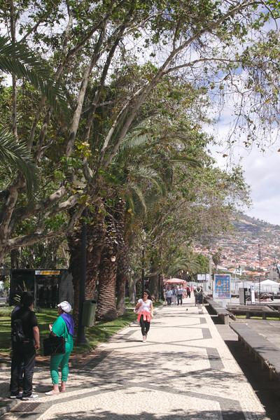 Seafront promenade near the Marina at Funchal Madeira