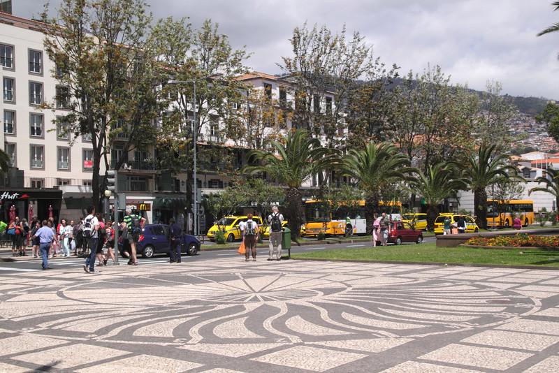 Decorative paving by the Avenida do Mar Funchal Madeira