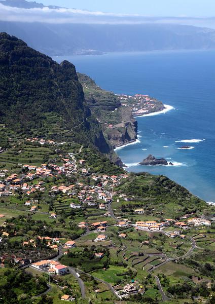 Arco de Sao Jorge on north coast Madeira view from Cabanas