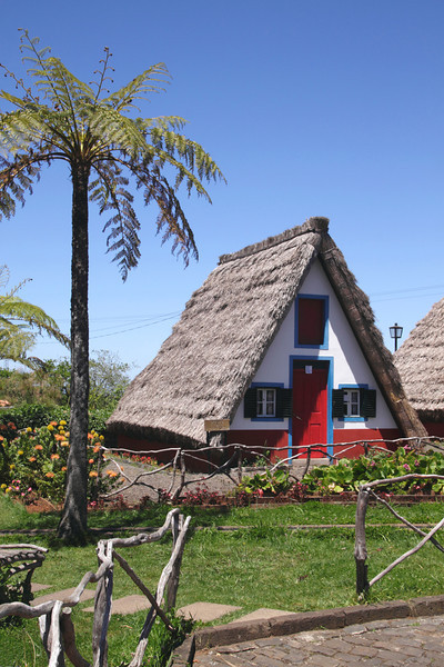 Traditional Palheiro thatched cottage Santana Madeira