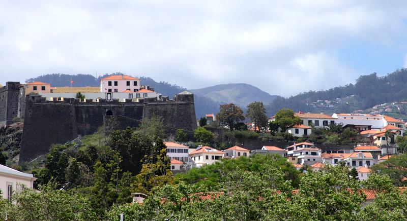 Funchal skyline and Fortaleza do Pico Madeira