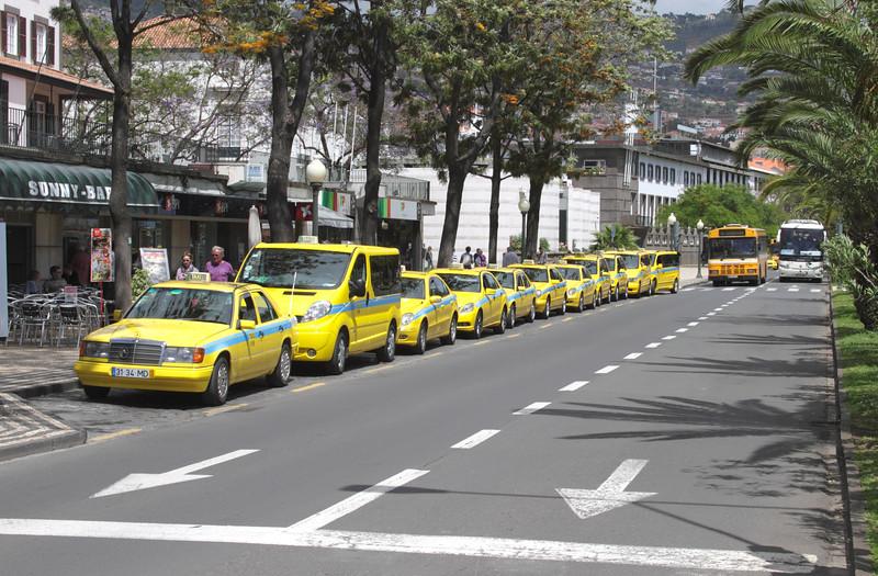 Taxi rank Avenida do Mar Funchal Madeira