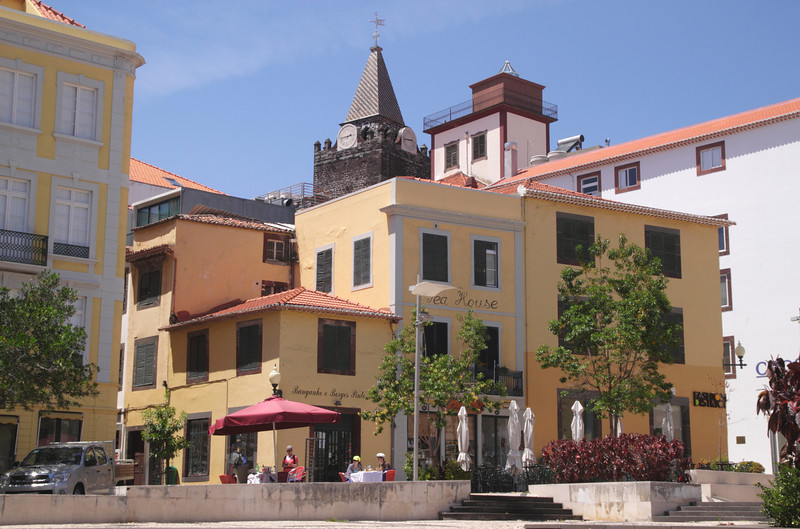 Praca do Colombo square in Funchal Madeira