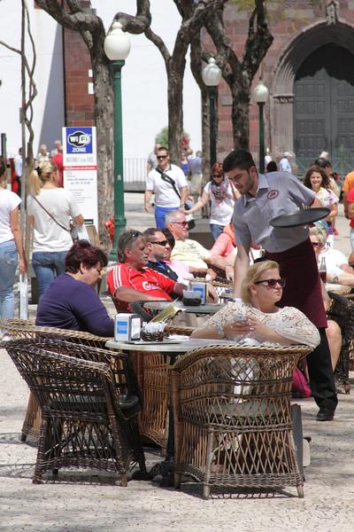 Golden Gate Grand Cafe at Avenida Arriaga Funchal Madeira