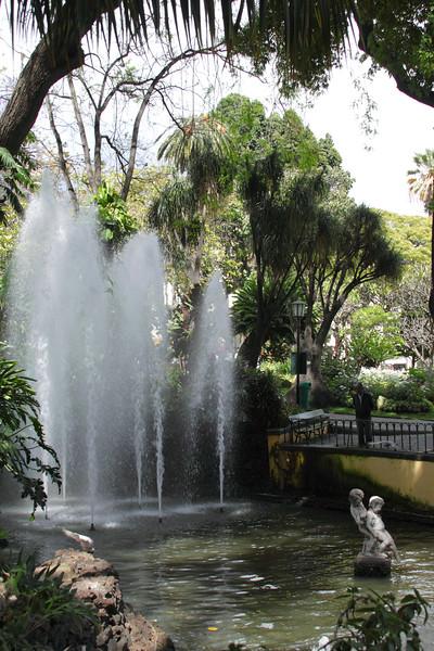 Fountain at Jardim de Sao Francisco Funchal Madeira