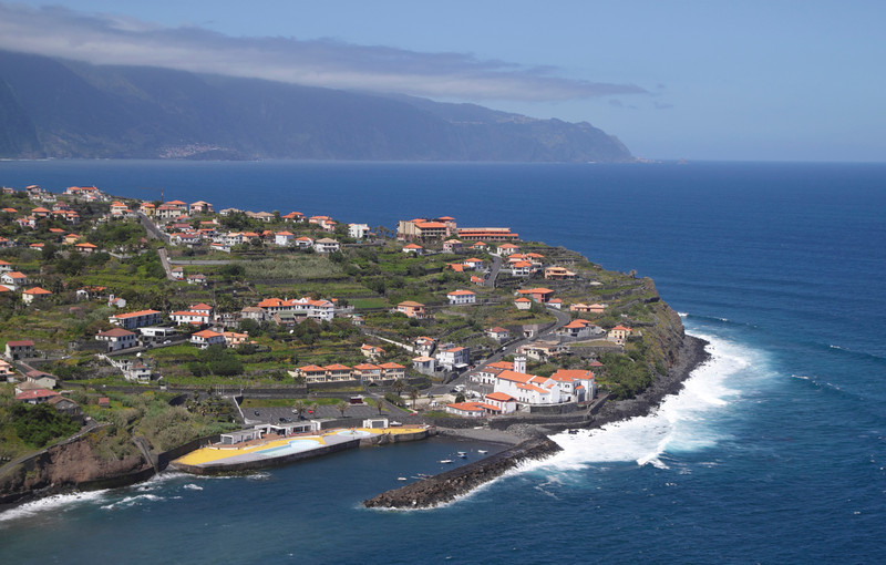 Ponta Delgada town on north coast of Madeira