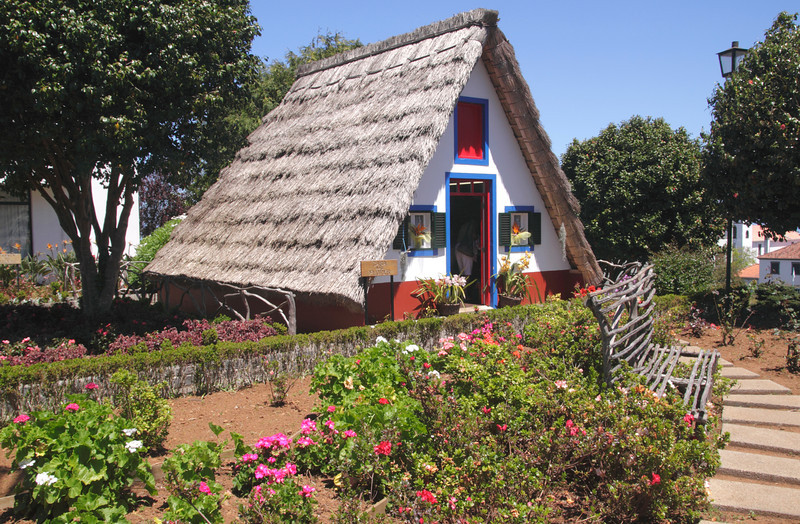 Traditional Palheiro thatched cottage Santana Madeira
