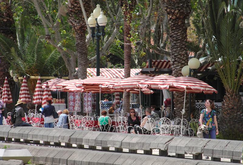 Waterfront cafe near the Marina Funchal Madeira