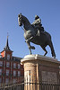 Statue of Felipe III in Plaza Mayor Madrid Spain
