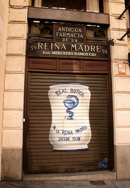 La Real Botica de la Reina Madre pharmacy dating from 1578 Calle Mayor Madrid Spain