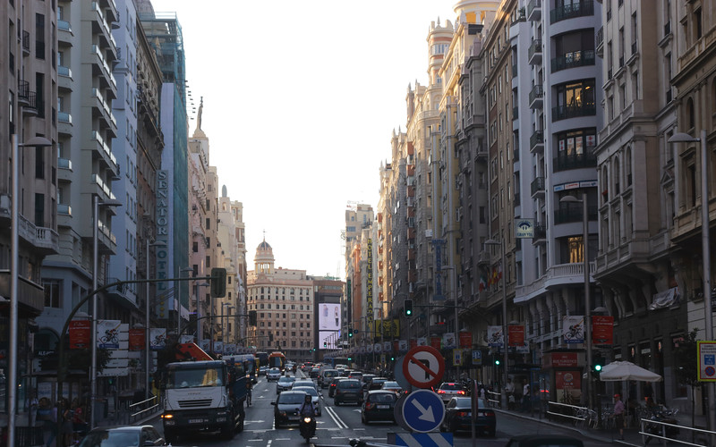 Gran Via Madrid Spain