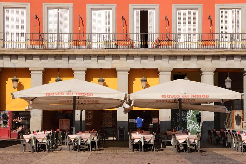 Museo del Jamon Restaurant at Plaza Mayor Madrid Spain