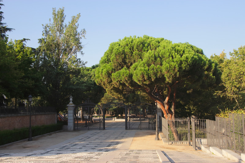 Entrance to Jardines de Sabatini Madrid Spain