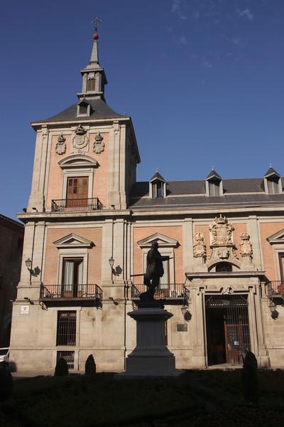 Old Town Hall in Plaza de la Villa Madrid Spain