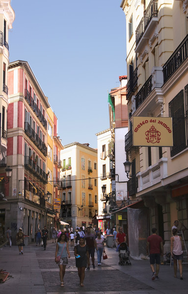 Calle de Postas pedestrian alley Madrid Spain