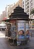 Kiosk in Gran Via Madrid Spain
