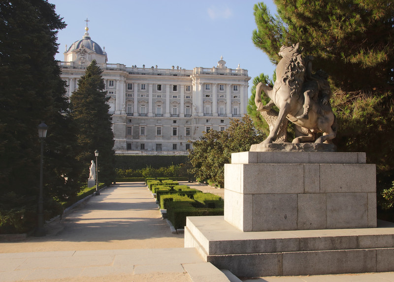 Jardines de Sabatini and Palacio Real Madrid Spain
