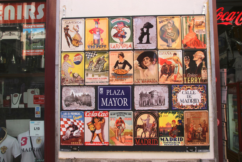 Souvenir Shop Calle Mayor Madrid Spain