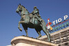 Carlos III statue in Puerta del Sol Madrid Spain