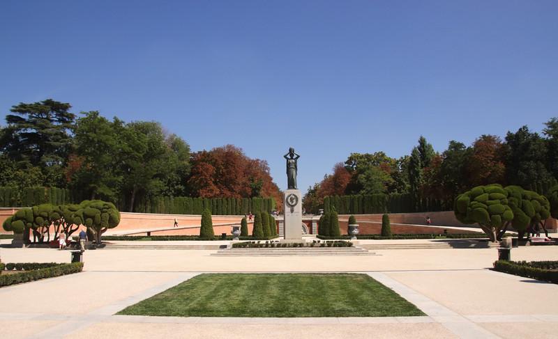 Jacinto Benavente Statue in Parque del Retiro Madrid Spain