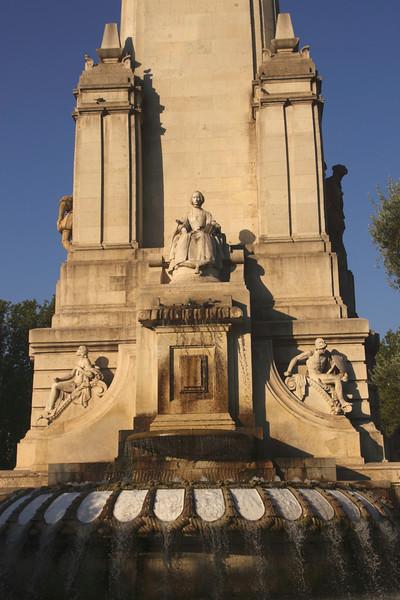 Miguel de Cervantes monument Plaza de Espana Madrid Spain