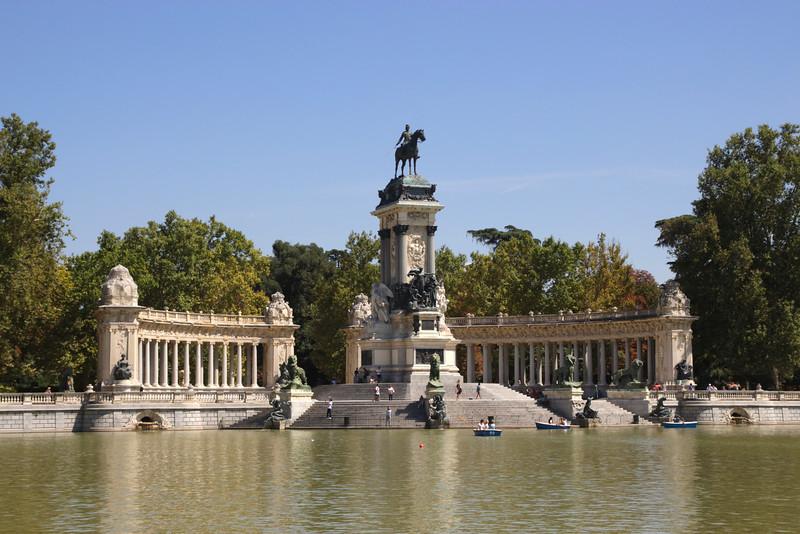Alfonso XII Monument at Parque del Retiro Madrid Spain
