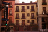 Cafe Riazor and buildings in Calle de Toledo Madrid