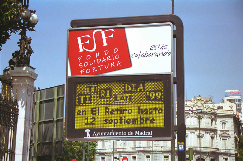 Advertising sign in Madrid