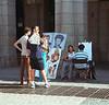 Street artist Madrid near Plaza Mayor