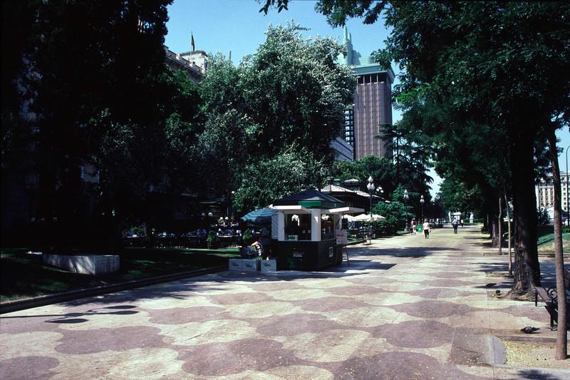 Pedestrian boulevard Madrid
