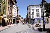 Street in Ribadesella Asturias Spain