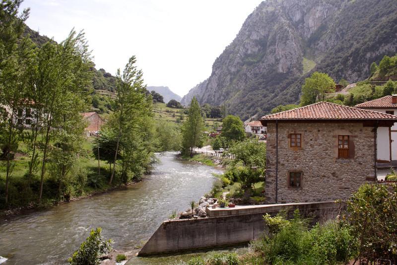 La Hermida village Picos de Europa Cantabria Spain