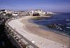 Beach at La Coruna Galicia Spain